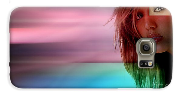 Original Jessica Alba Painting Galaxy S6 Case by Marvin Blaine