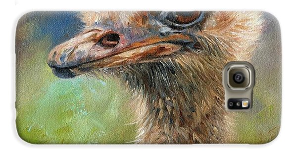 Ostrich Galaxy S6 Case by David Stribbling