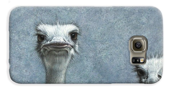 Ostriches Galaxy S6 Case by James W Johnson