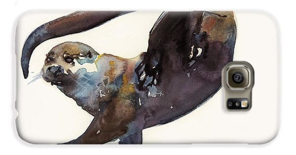 Otter Study II  Galaxy S6 Case by Mark Adlington