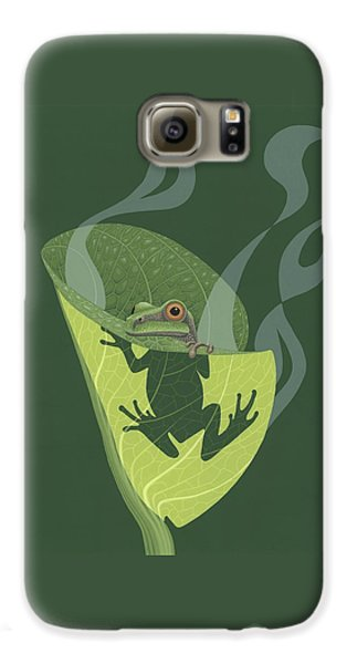 Pacific Tree Frog In Skunk Cabbage Galaxy S6 Case by Nathan Marcy