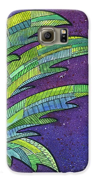 Palms Against The Night Sky Galaxy S6 Case by Diane Thornton