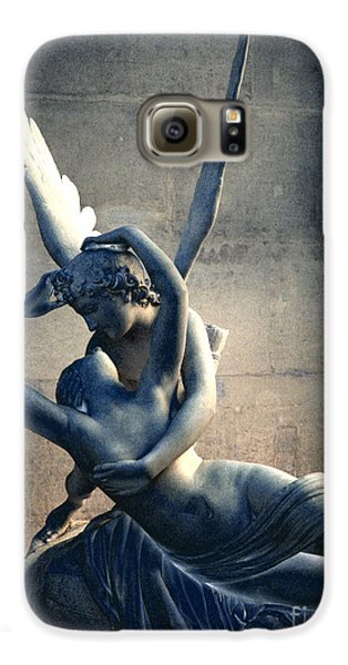 Paris Eros And Psyche Romantic Lovers - Paris In Love Eros And Psyche Louvre Sculpture  Galaxy S6 Case by Kathy Fornal