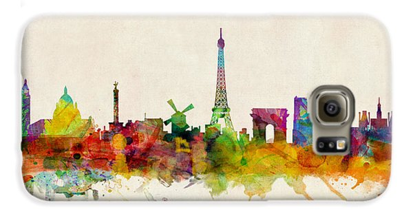 Paris Skyline Galaxy S6 Case by Michael Tompsett