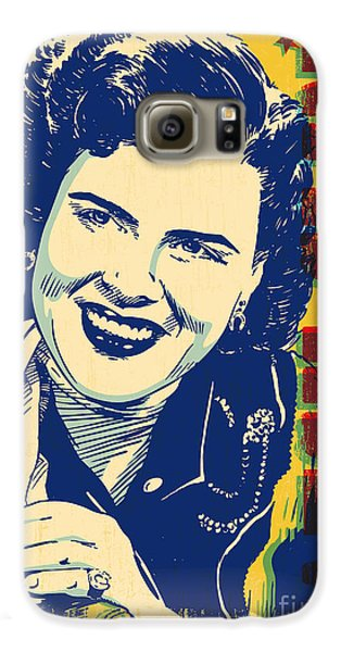 Patsy Cline Pop Art Galaxy S6 Case by Jim Zahniser