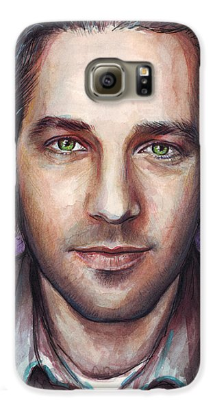 Paul Rudd Portrait Galaxy S6 Case by Olga Shvartsur