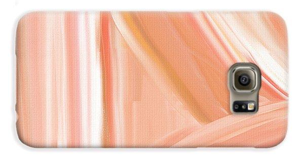 Peach Accent Galaxy S6 Case by Lourry Legarde