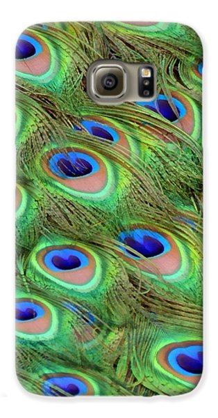 Peacock Feather Cascade Samsung Galaxy Case by Angelina Vick