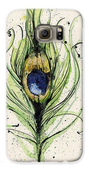 Peacock Feather Galaxy S6 Case by Mark M  Mellon