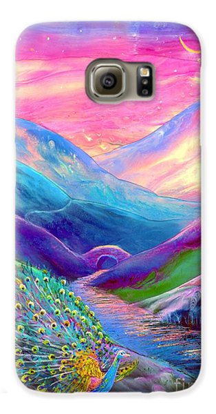 Peacock Magic Galaxy S6 Case by Jane Small
