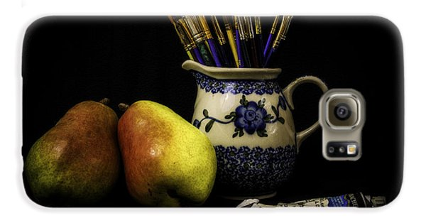 Pears And Paints Still Life Galaxy S6 Case by Jon Woodhams