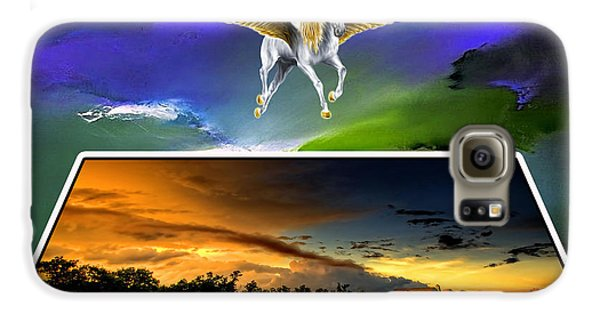 Pegasus In Flight Galaxy S6 Case by Marvin Blaine
