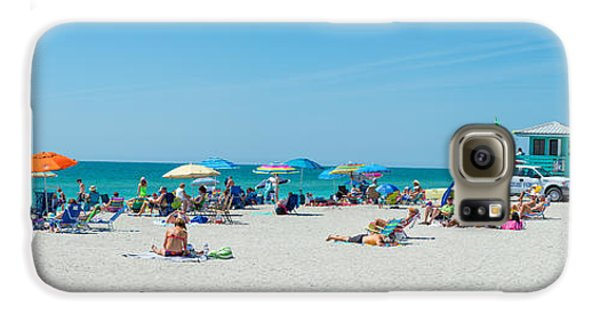 People On The Beach, Venice Beach, Gulf Galaxy S6 Case by Panoramic Images