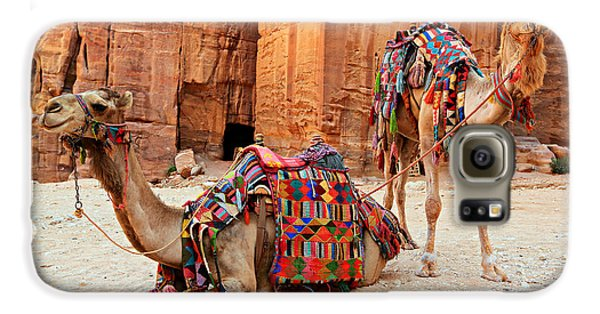 Petra Camels Galaxy S6 Case by Stephen Stookey