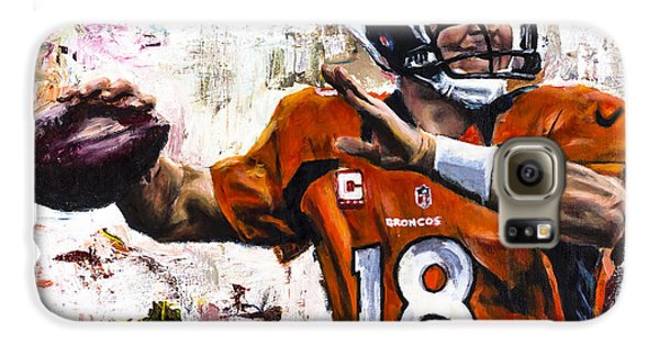 Peyton Manning Galaxy S6 Case by Mark Courage
