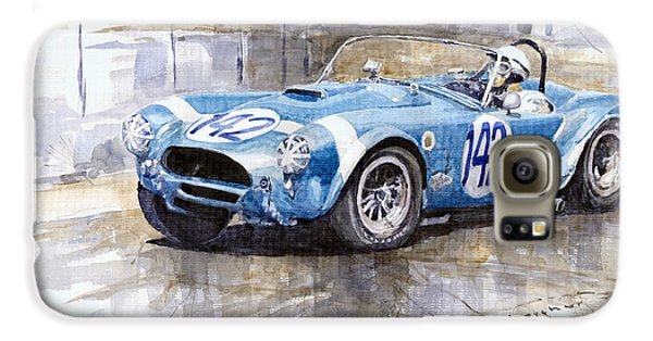 Phil Hill Ac Cobra-ford Targa Florio 1964 Galaxy S6 Case by Yuriy Shevchuk