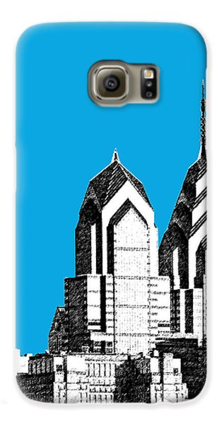 Philadelphia Skyline Liberty Place 1 - Ice Blue Galaxy S6 Case by DB Artist