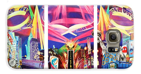 Phish New York For New Years Triptych Galaxy S6 Case by Joshua Morton