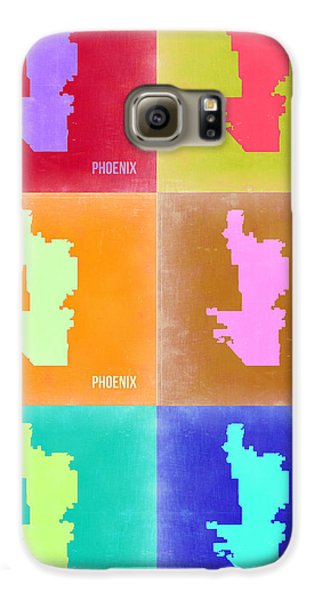 Phoenix Pop Art Map 3 Galaxy S6 Case by Naxart Studio