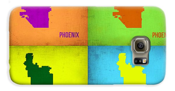 Phoenix Pop Art Map Galaxy S6 Case by Naxart Studio