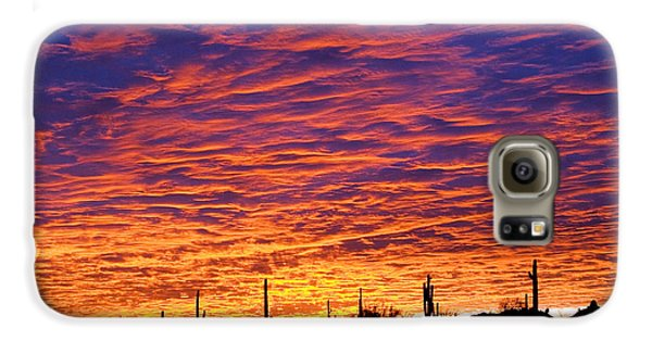 Phoenix Sunrise Galaxy S6 Case by Jill Reger