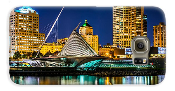 Picture Of Milwaukee Skyline At Night Galaxy S6 Case by Paul Velgos