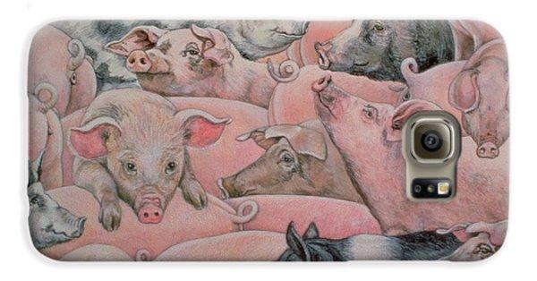 Pig Spread Galaxy S6 Case by Ditz