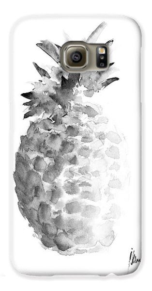 Pineapple Painting Watercolor Art Print Galaxy S6 Case by Joanna Szmerdt