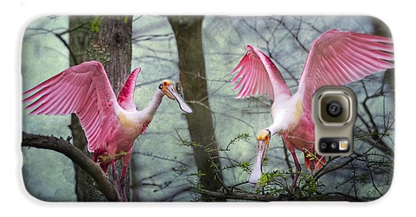 Pink Wings In The Swamp Galaxy S6 Case by Bonnie Barry