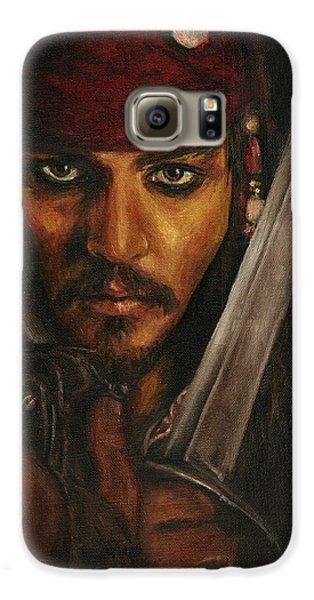 Pirates- Captain Jack Sparrow Galaxy S6 Case by Lina Zolotushko