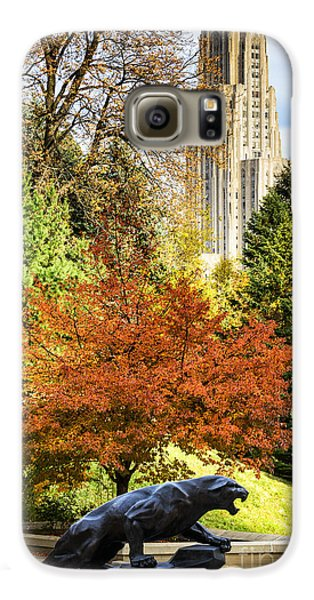Pitt Panther And Cathedral Of Learning Galaxy S6 Case by Thomas R Fletcher