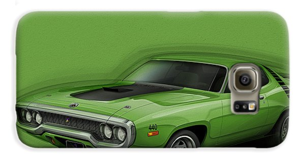 Plymouth Roadrunner 1972 Galaxy S6 Case by Etienne Carignan
