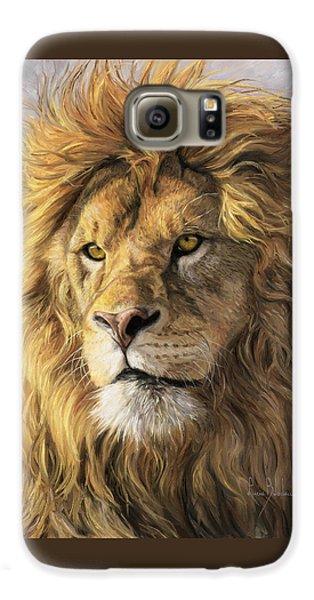 Portrait Of A Lion Galaxy S6 Case by Lucie Bilodeau