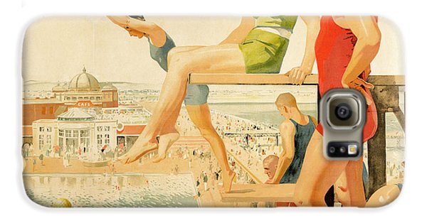 Poster Advertising Sunny Rhyl  Galaxy S6 Case by Septimus Edwin Scott
