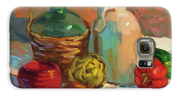 Pottery And Vegetables Galaxy S6 Case by Diane McClary