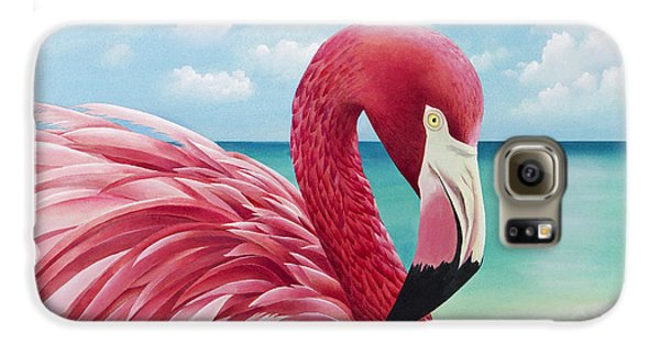 Pretty In Pink Galaxy S6 Case by Carolyn Steele