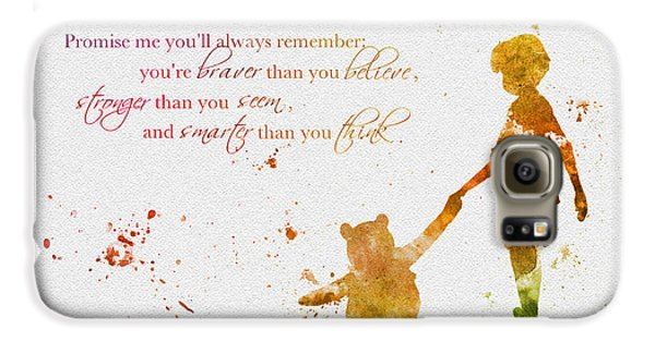Promise Me You'll Always Remember Galaxy S6 Case by Rebecca Jenkins