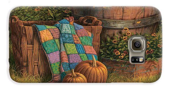 Pumpkins And Patches Galaxy S6 Case by Michael Humphries