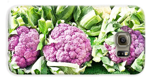 Purple Cauliflower Galaxy S6 Case by Tom Gowanlock