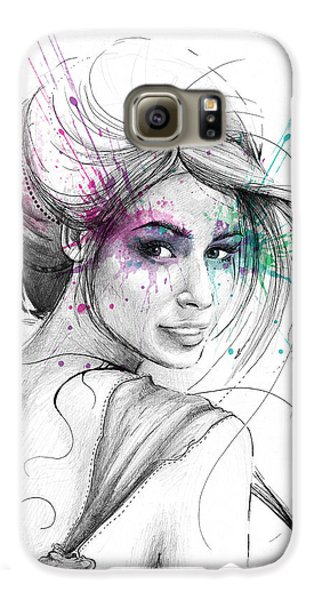 Queen Of Butterflies Galaxy S6 Case by Olga Shvartsur