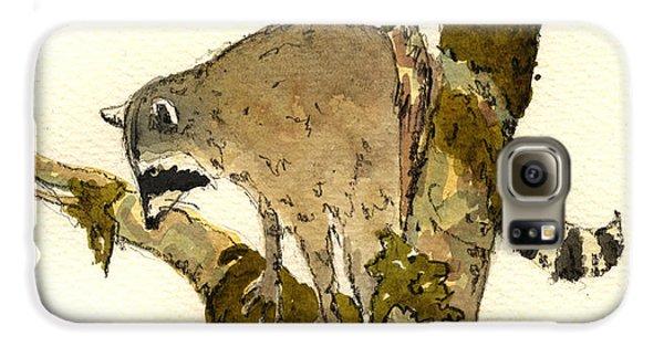 Raccoon On A Tree Galaxy S6 Case by Juan  Bosco