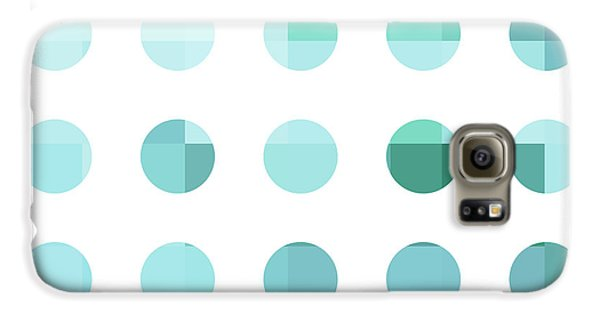 Rainbow Dots Aqua  Galaxy S6 Case by Pixel Chimp