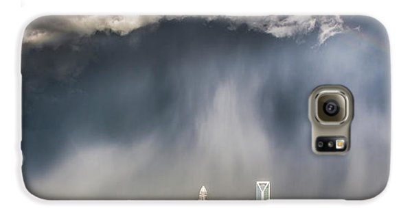 Rainbow Over Charlotte Galaxy S6 Case by Chris Austin