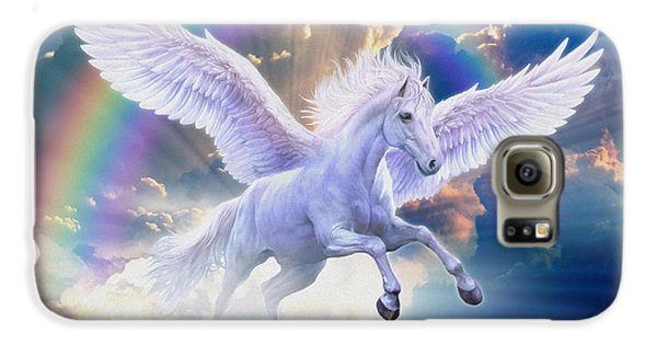 Rainbow Pegasus Galaxy S6 Case by Jan Patrik Krasny