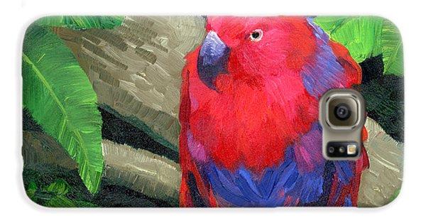 Red Bird Galaxy S6 Case by Alice Leggett