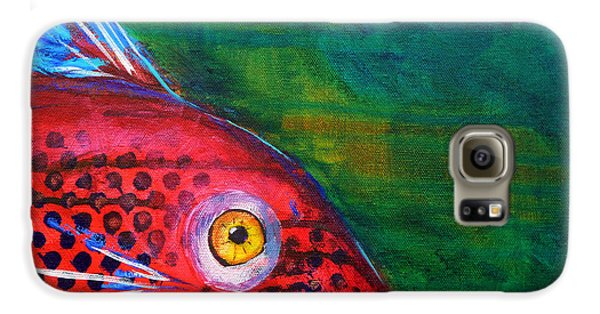 Red Fish Galaxy S6 Case by Nancy Merkle