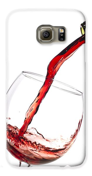 Red Wine Pouring Into Wineglass Splash Galaxy S6 Case by Dustin K Ryan