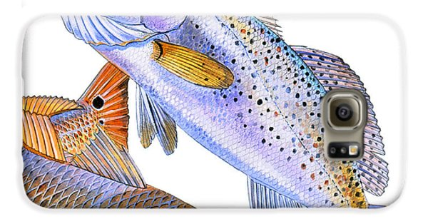 Redfish Trout Galaxy S6 Case by Carey Chen