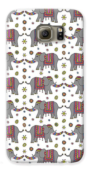 Repeat Print - Indian Elephant Galaxy S6 Case by Susan Claire
