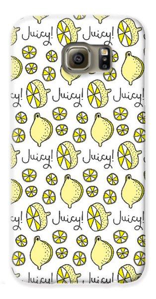 Repeat Prtin - Juicy Lemon Galaxy S6 Case by Susan Claire